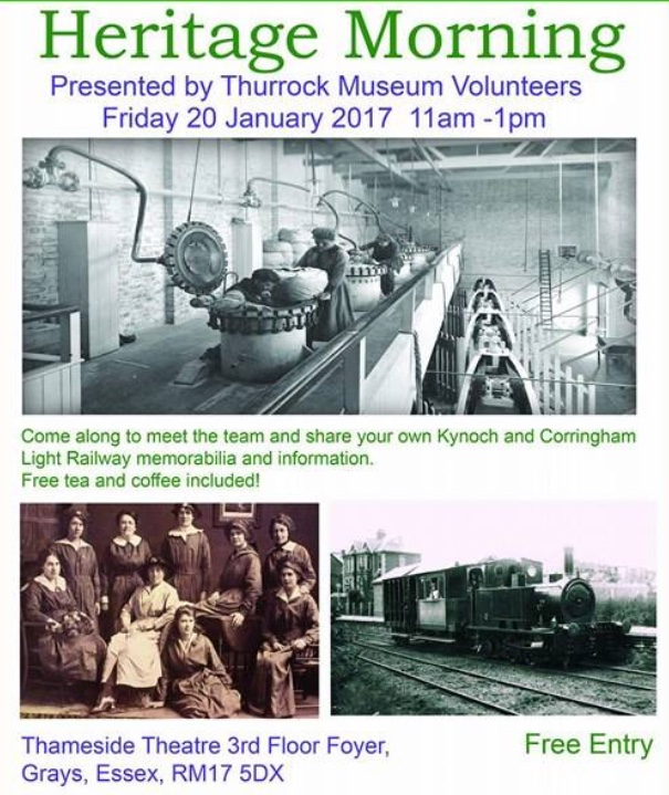 Exhibition to showcase Kynoch and Corringham Railway