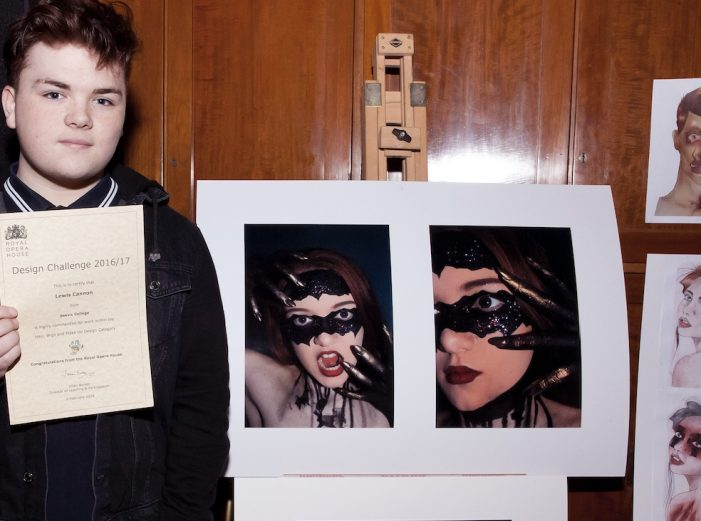 Royal Opera House commend student in Design Challenge