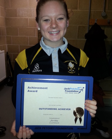 Thurrock Hockey player receives Jack Petchey Award