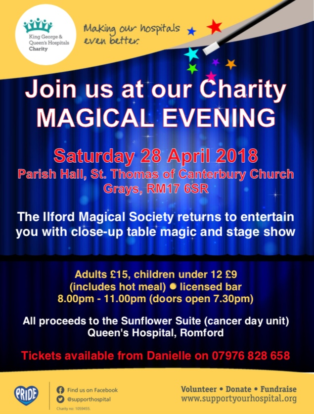 Magic charity night in Grays for Romford Hospital
