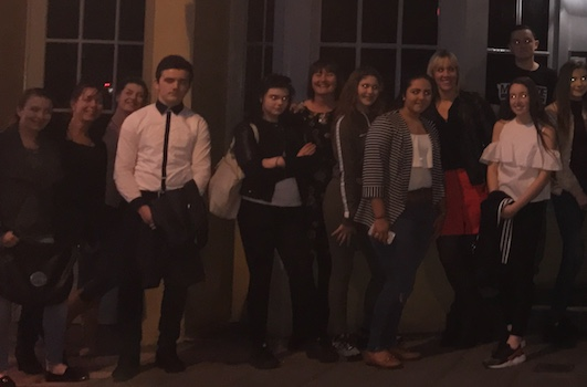 Gateway Academy students enjoy dining in the dark