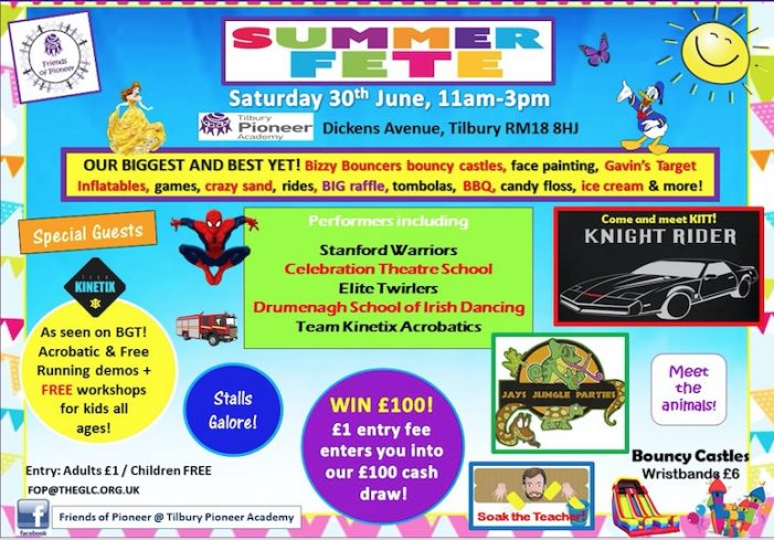 It's going to be great at the Friends of Tilbury Pioneer Summer Fete