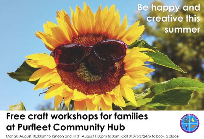 Free family craft at one of Purfleet's precious places