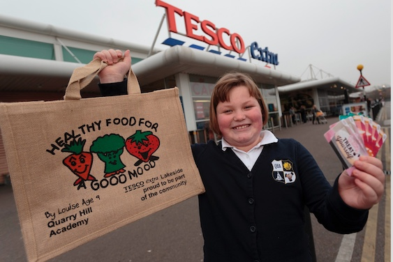 Quarry Hill student designs healthy bag for Tesco Lakeside