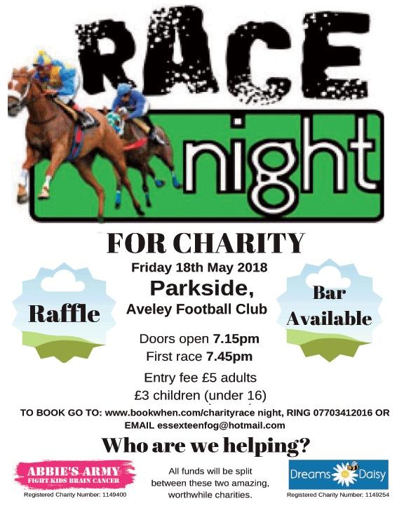 Race Charity Night at Aveley Football