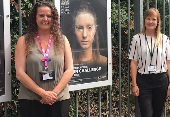 Royal Opera House Design Challenge winners work displayed at Purfleet Station