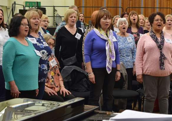 Royal Opera Thurrock Community Chorus in rehearsal for Ravi Shankar performance
