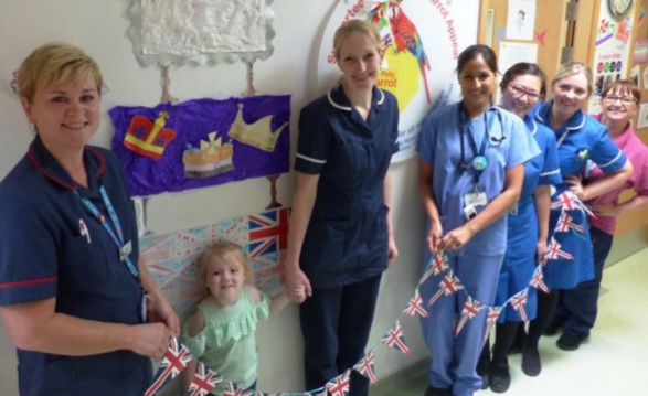 Basildon Hospital struck by royal wedding fever