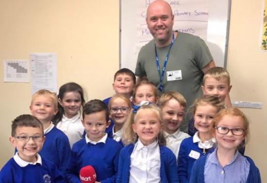 Corringham Primary appear on Heart Radio