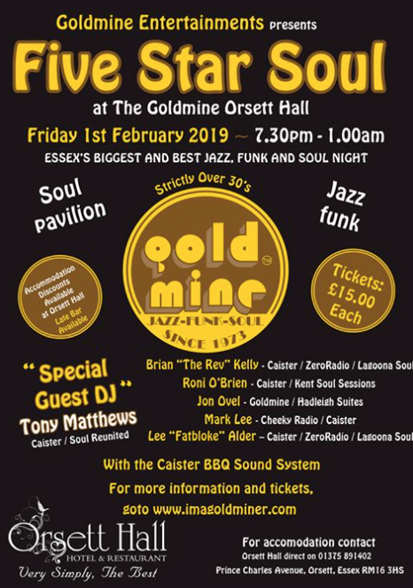 The Goldmine is coming to Orsett Hall