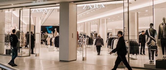 Brand new two-level Zara store at intu Lakeside