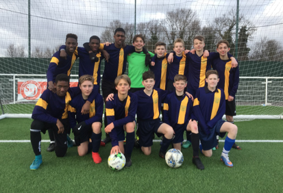 Ockendon Academy Year 9 football team wins Essex Cup semi-final