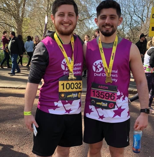 Stanford-le-Hope brothers take on London Marathon for National Deaf Children's Society