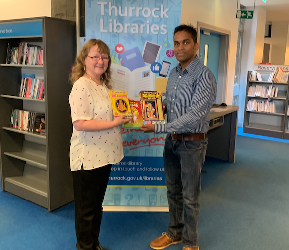 Thurrock libraries presented with books in South Indian language