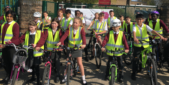 Woodside Academy take on big pedal against climate change