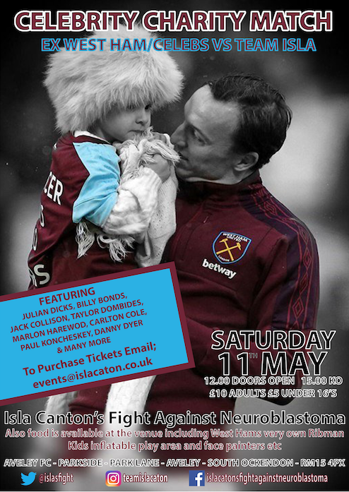 Celebrity football match to support Isla