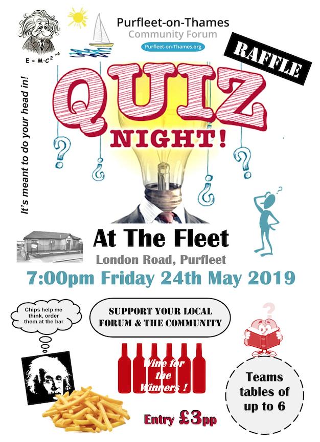 Purfleet-on-Thames Community Forum Quiz Night