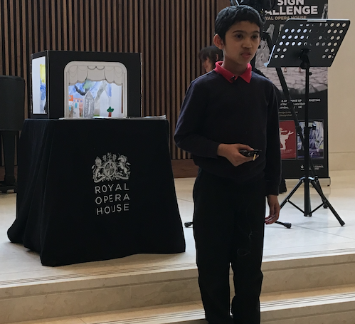 Little Thurrock Primary student praised in Royal Opera House competition