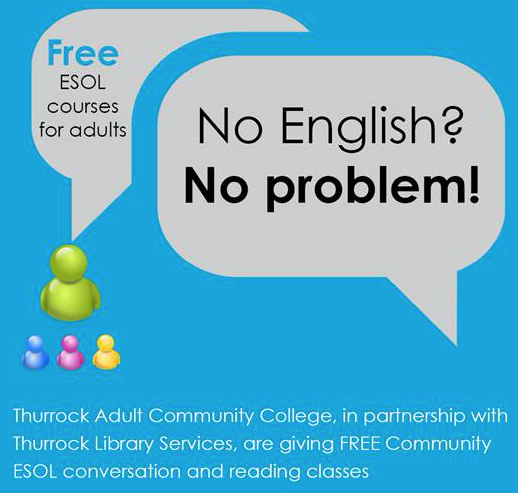 Free community ESOL classes at Grays Library