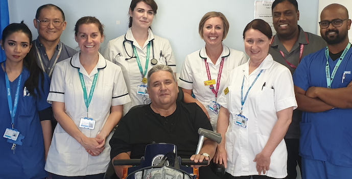 Patient praises Basildon hospital after eight stone weight loss
