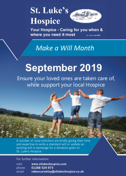St Luke Hospice host Make a Will Fortnight