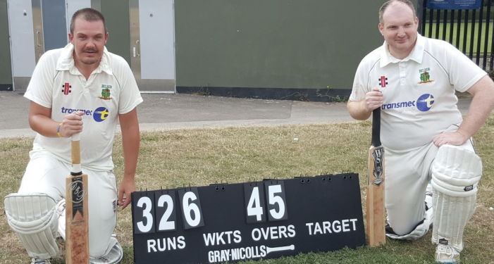 Cricket: Belhus record record partnerships