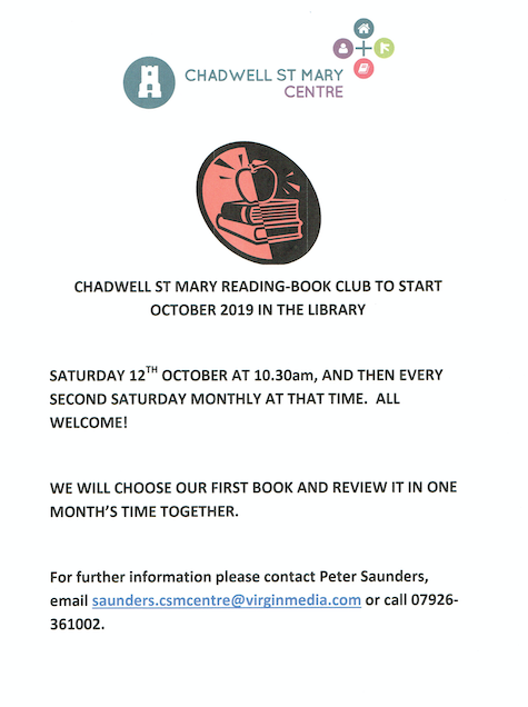 Chadwell St Mary Centre to host Book Club