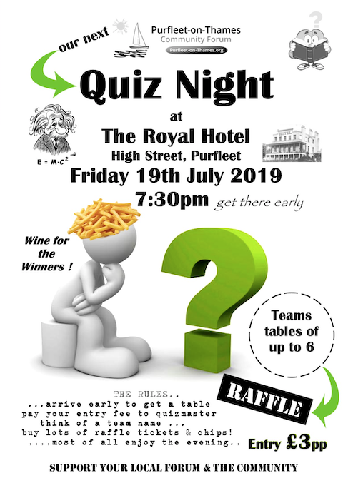 Purfleet on Thames Community to host Quiz Night