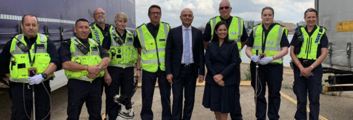 New Chancellor and Home Secretary visit Port of Tilbury as Brexit looms