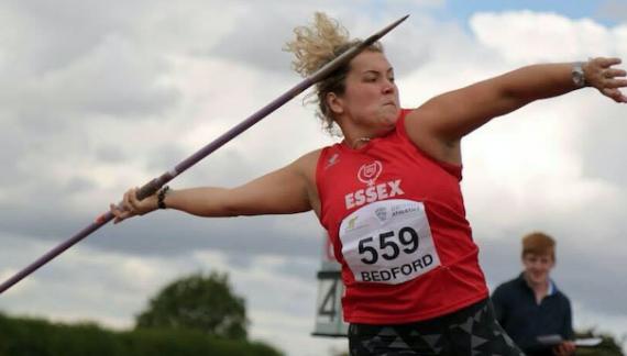 Grays company sponsor promising javelin champion