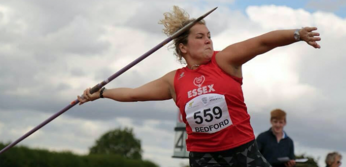 Grays company sponsor promising javelin champion