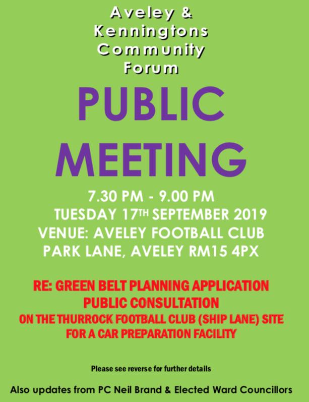 Aveley and Kenningtons Community Forum