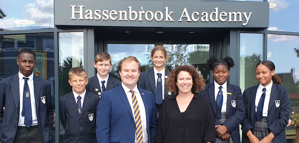 News students at Hassenbrook Academy get special visit from education boss