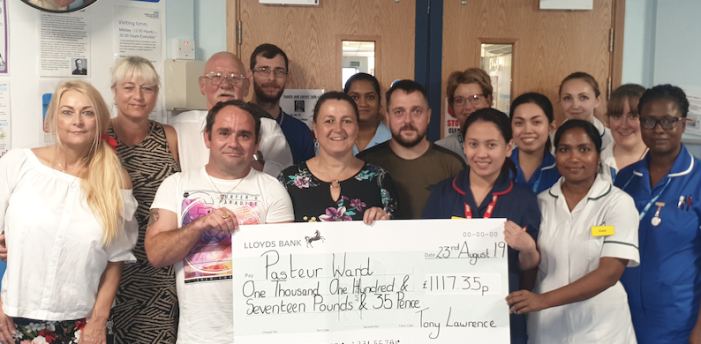Basildon Hospital : Generous donation in memory of patient Alfreda Lawrence
