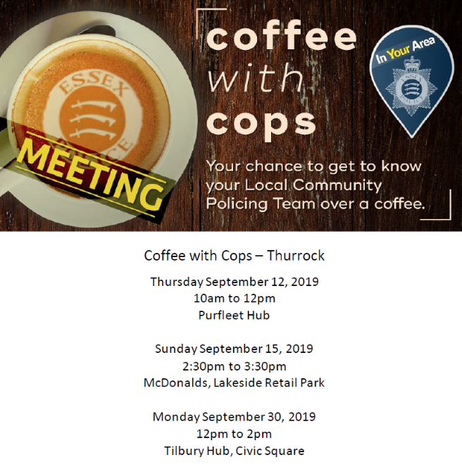 Have Coffee with Cops across Thurrock