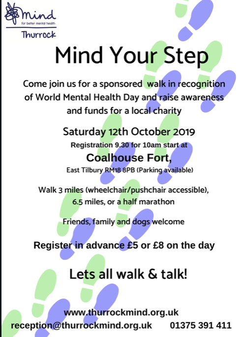Thurrock Mind to host sponsored walk