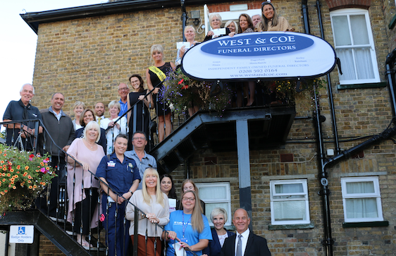 West and Coe Funeral Directors raise funds to help 15 Essex charities