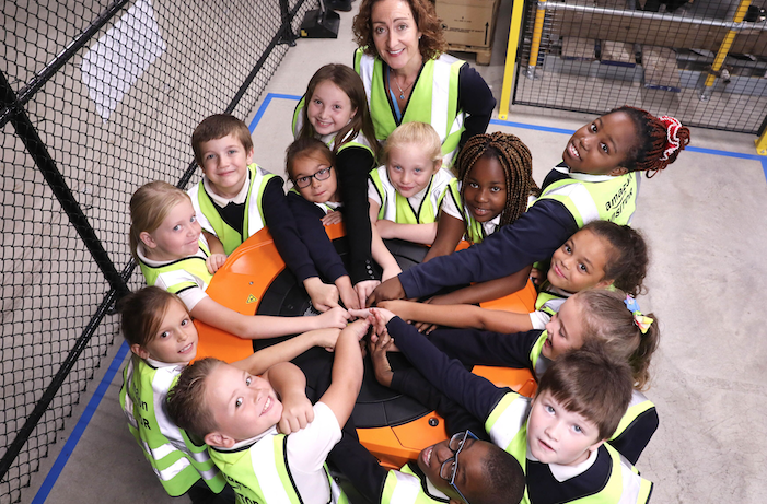 Lansdowne Primary Academy receive free robotics workshop at Amazon Tilbury