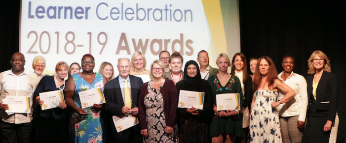 Adult learners from across Thurrock recognised at Thurrock Adult Community College Education Awards.