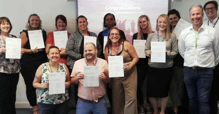 South Essex College staff qualify as mental health first aiders