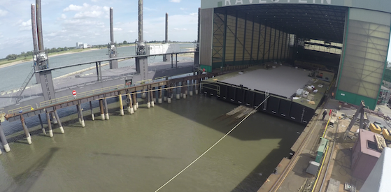 Pontoon launch marks milestone in Tilbury2 development