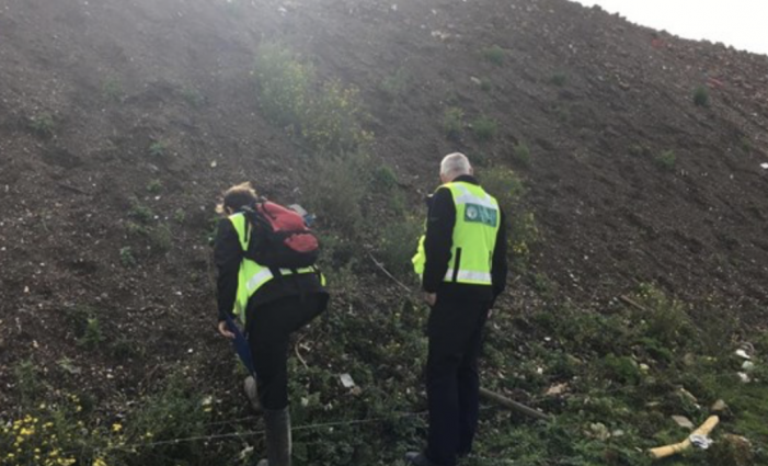 Operation at illegal waste site in South Ockendon