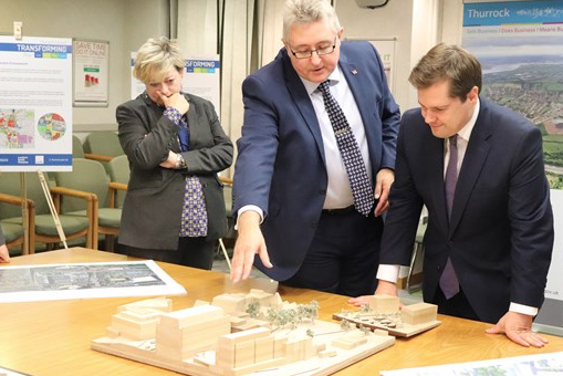 Housing minister impressed by plans for Grays