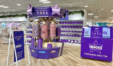 Cadbury Heroes Pick n Mix comes to Debenhams in Lakeside