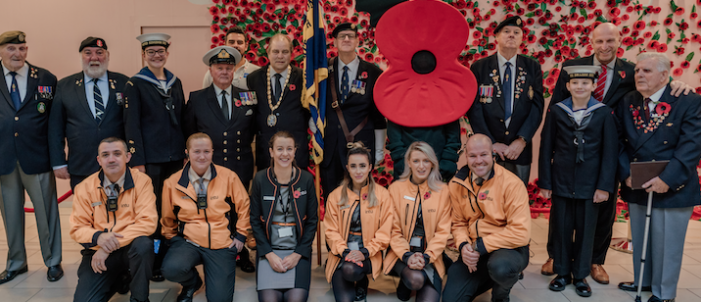 intu Lakeside launches Poppy Appeal with creative Poppy wall