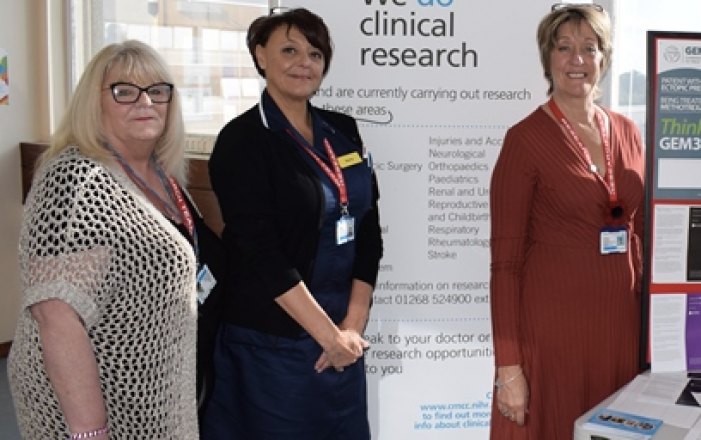 Basildon Hospital raises awareness of the importance of research and development