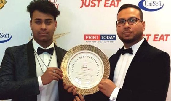 Popular Indian restaurant in Grays wins top award