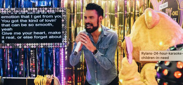 Thurrock's Rylan undertakes 24 hr KaRYoke for Children in Need