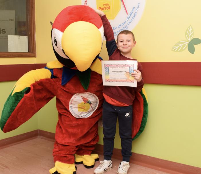 Brandon the super-hero helping Basildon Hospital