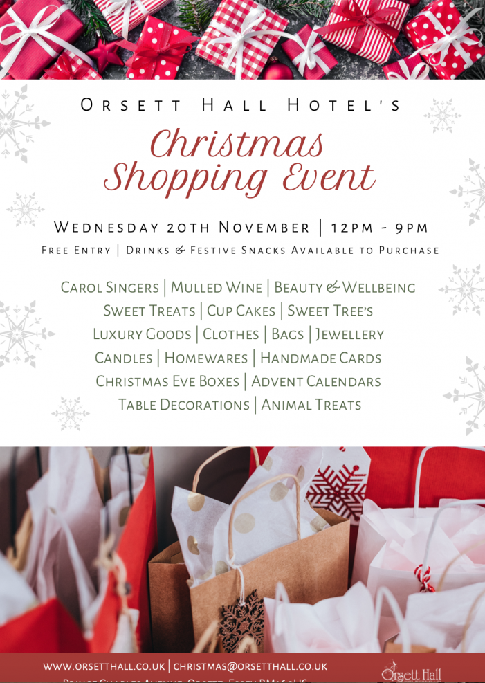 Planning to visit Orsett Hall at Christmas Shopping event?